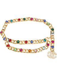 ремень с кристаллами циркония  Chanel Vintage