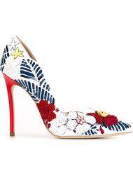 туфли с цветочным принтом Dsquared2