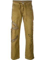 джинсы с логотипом Telfar