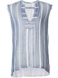 frayed striped vest Raquel Allegra