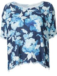 frayed printed blouse Raquel Allegra