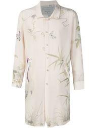 удлиненная рубашка с цветочным принтом By Walid