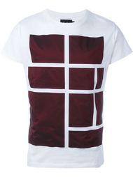 футболка с контрастным геометрическим принтом Letasca