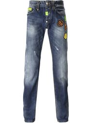 джинсы 'Fierce' с заплатками Philipp Plein