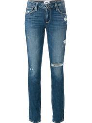 джинсы с потертой отделкой Paige