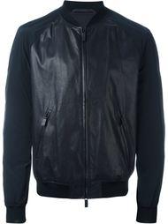 куртка-бомбер с панельным дизайном  Giorgio Armani