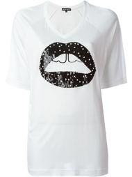 футболка с аппликацией  губ  Markus Lupfer