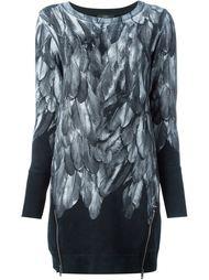 платье-свитер с принтом перьев Diesel