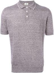 футболка-поло с контрастным воротником   Borrelli
