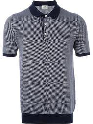 футболка-поло с контрастной окантовкой Borrelli