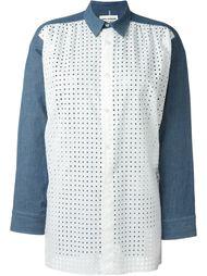 перфорированная рубашка с классическим воротником Junya Watanabe Comme Des Garçons
