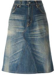 джинсовая юбка средней длины Junya Watanabe Comme Des Garçons