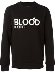 logo print sweatshirt Blood Brother