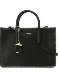 сумка-тоут с простроченной отделкой DKNY