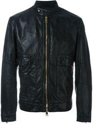 кожаная куртка на молнии Etro