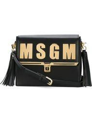 сумка через плечо с логотипом MSGM