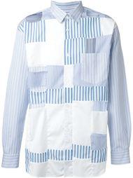 лоскутная рубашка с вырезными деталями Comme Des Garçons Shirt
