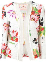 твидовый пиджак с цветочным принтом Etro
