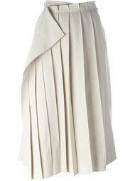 плиссированная юбка с запахом Yohji Yamamoto Vintage