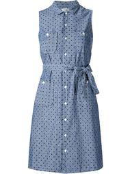 платье в горошек с накладными карманами Engineered Garments