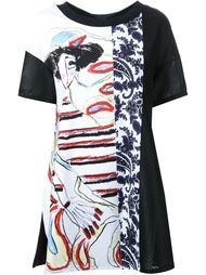 футболка с комбинированным принтом I'M Isola Marras