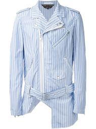 полосатая асимметричная байкерская куртка Comme Des Garçons Homme Plus
