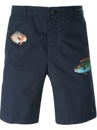 шорты с вышивкой рыбы Pt01