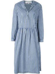 платье с V-образным вырезом в клетку Comme Des Garçons Girl
