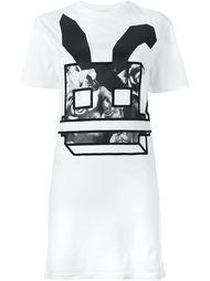 платье-футболка с принтом Electro Bunny  McQ Alexander McQueen