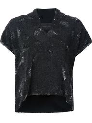 short sleeve v-neck shift hoodie Jeffrey Dodd