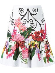 high waisted floral skirt Isolda