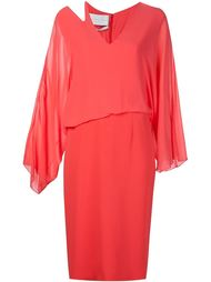 shoulder detail long sleeve dress Jeffrey Dodd