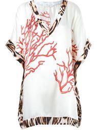 v-neck printed beach dress Brigitte