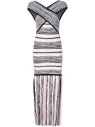 облегающее платье с перекрещенными панелями Christian Siriano