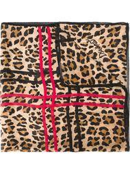 leopard print scarf Dsquared2
