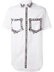 рубашка с контрастной отделкой Love Moschino