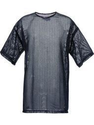 удлиненная прозрачная футболка Strateas Carlucci