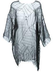 прозрачная блузка с необработанными краями   Strateas Carlucci