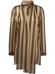 striped scarf neck blouse Petar Petrov