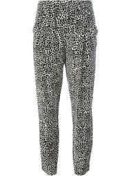 зауженные брюки с леопардовым принтом Nili Lotan