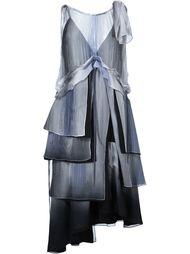 sheer ruffled mid dress Audra