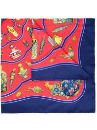 шарф с принтом флаконов духов Hermès Vintage