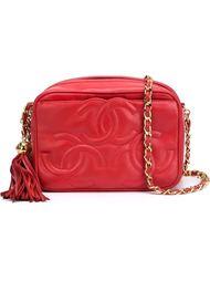 сумка-футляр с тремя логотипами Chanel Vintage