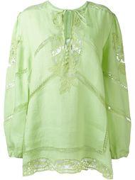 блузка с кружевными деталями Ermanno Scervino