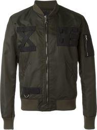 куртка-бомбер с контрастными нашивками Letasca