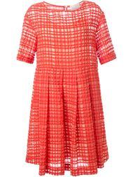 расклешенное платье в клетку Erika Cavallini