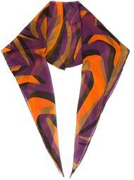 colour block print scarf  Versace
