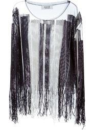 прозраная блузка с пайетками  Aviù
