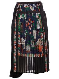 плиссированная юбка с принтом Sacai