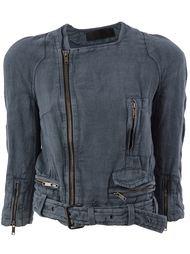 байкерская куртка с поясом Haider Ackermann